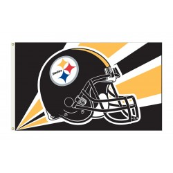 Pittsburgh Steelers Helmet 3'x 5' NFL Flag