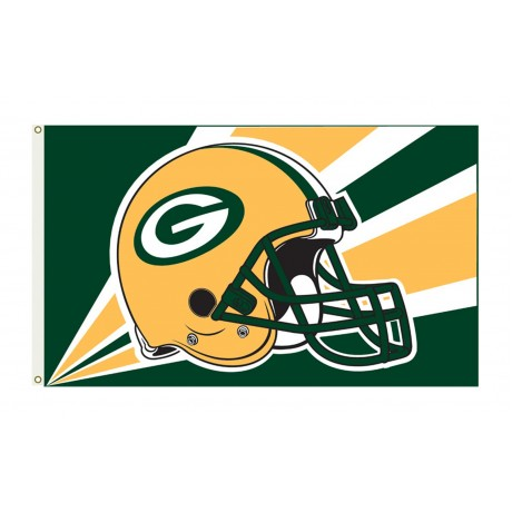Green Bay Packers Helmet 3'x 5' NFL Flag