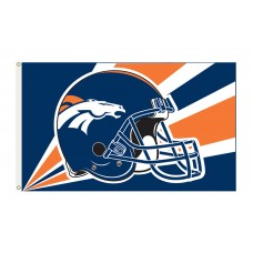 Denver Broncos Helmet 3'x 5' NFL Flag