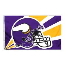 Minnesota Vikings Helmet Design 3'x 5' NFL Flag