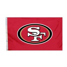 San Francisco 49ers Logo 3'x 5' NFL Flag