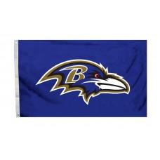 Baltimore Ravens Logo 3'x 5' NFL Flag