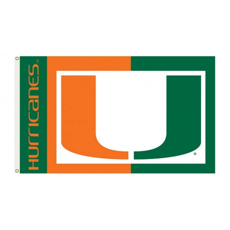 Miami Hurricanes 3'x 5' College Flag