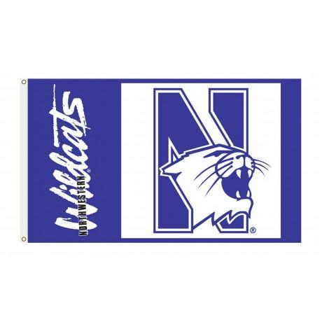Northwestern Wildcats 3'x 5' College Flag