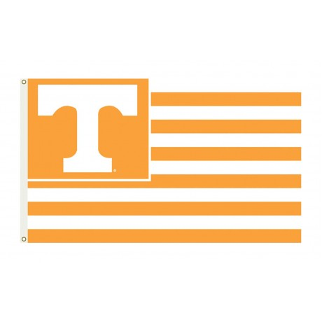 Tennessee Volunteers Striped USA Style 3'x 5' Flag