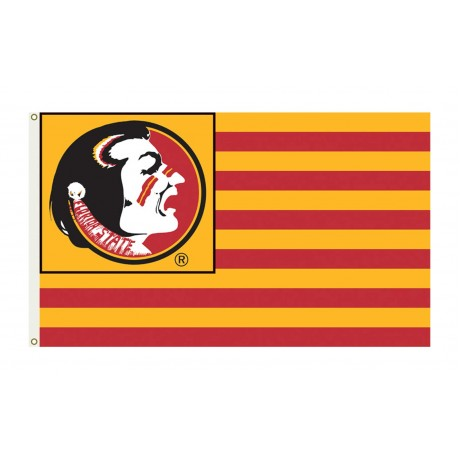Florida State Seminoles Striped USA Style 3'x 5' Flag