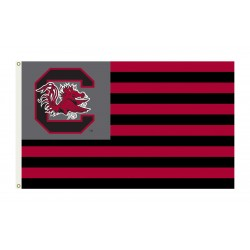 South Carolina Gamecocks Striped USA Style 3'x 5' Flag