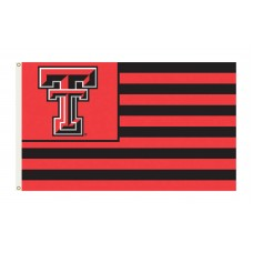 Texas Tech Red Raiders Striped USA Style 3'x 5' Flag