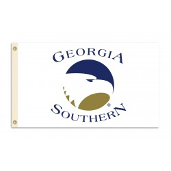 Georgia Southern Eagles White 3'x 5' College Flag