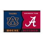 Alabama Crimson Tide-Auburn Tigers House Divided 3'x 5' Flag