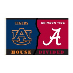 Alabama Crimson Tide-Auburn Tigers House Divided 3'x 5' Flag
