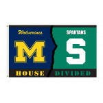 Michigan Wolverines-Michigan State House Divided 3'x 5' Flag