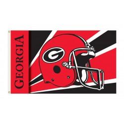 Georgia Bulldogs Helmet 3'x 5' Flag