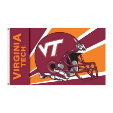 Virginia Tech Hokies Helmet 3'x 5' Flag
