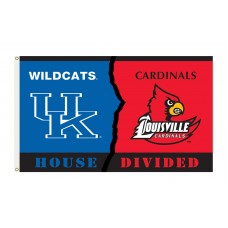 Kentucky Wildcats-Louisville House Divided 3'x 5' Flag