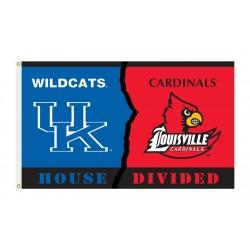 Kentucky Wildcats-Louisville House Divided 3'x 5' Flag