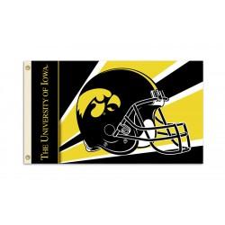 Iowa Hawkeyes Helmet 3'x 5' Flag