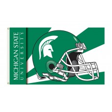 Michigan State Spartans Helmet 3'x 5' Flag