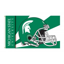 Michigan State Spartans Helmet 3'x 5' Flag