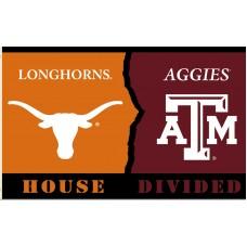 Texas Longhorns-A&M Aggies House Divided 3'x 5' Flag