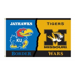 Kansas Jayhawks-Missouri House Divided 3'x 5' Flag
