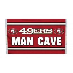 San Francisco 49ers MAN CAVE 3'x 5' NFL Flag
