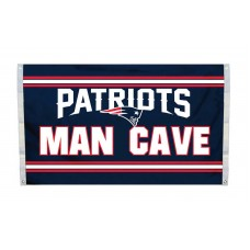 New England Patriots MAN CAVE 3'x 5' NFL Flag