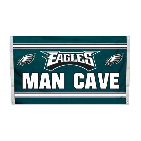 Philadelphia Eagles MAN CAVE 3'x 5' NFL Flag