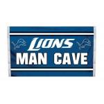 Detroit Lions MAN CAVE 3'x 5' NFL Flag