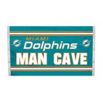 Miami Dolphins MAN CAVE 3'x 5' NFL Flag