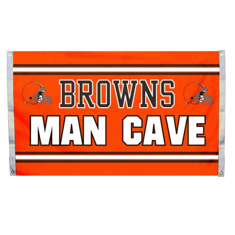 Cleveland Browns MAN CAVE 3'x 5' NFL Flag