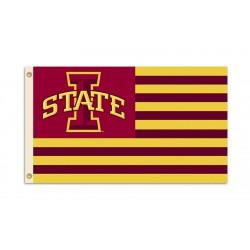 Iowa State Cyclones Striped USA Style 3'x 5' Flag