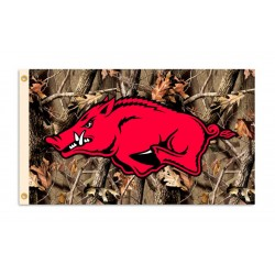 Arkansas Razorbacks Camo 3'x 5' College Flag