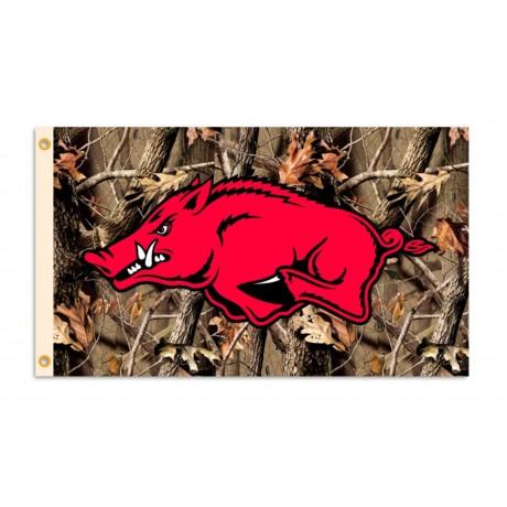 Arkansas Razorbacks Camo 3'x 5' College Flag