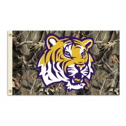 Louisiana State Tigers Realtree Camo 3'x 5' Flag