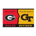 Georgia Bulldogs-Georgia Tech House Divided 3'x 5' Flag
