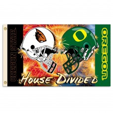 Oregon Ducks-Oregon State House Divided 3'x 5' Flag