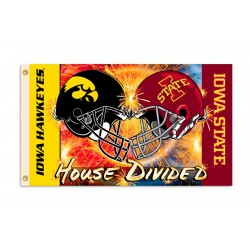 Iowa Hawkeyes-Iowa State House Divided 3'x 5' Flag