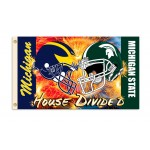 Michigan Wolverines-Michigan State Spartans House Divided 3'x 5' Flag