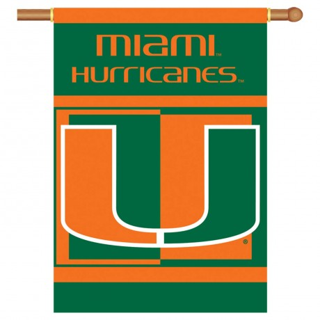Miami Hurricanes Double Sided Banner