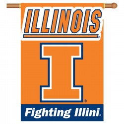 Illinois Fighting Illini Double Sided Banner