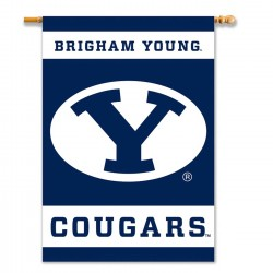 Brigham Young Cougars Outside House Banner