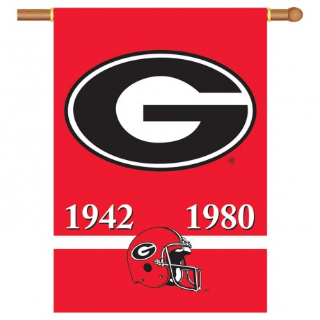 Georgia Bulldogs Champion Years NCAA Double Sided Banner
