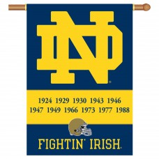 Notre Dame Fighting Irish Champion Years NCAA Double Sided Banner