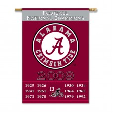 Alabama Crimson Tide Championship Years 2-Sided Banner