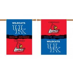 Kentucky Wildcats-Louisville House Divided 28 x 40 Banner