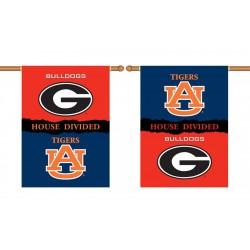 Georgia Bulldogs-Auburn Tigers House Divided 28 x 40 Banner