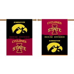 Iowa Hawkeyes-Iowa State House Divided 28 x 40 Banner