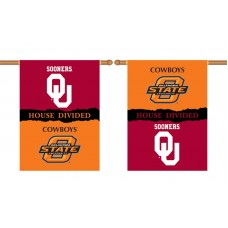 Oklahoma Sooners-Oklahoma State House Divided 28 x 40 Banner