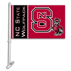 North Carolina State Wolfpack NCAA Double Sided Car Flag